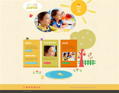 drupal themes kindergarten kindergarten psd template by craftedpixels themeforest