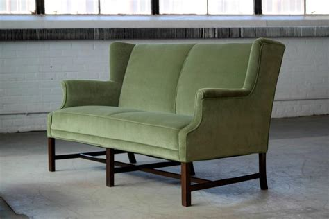 wingback settee for sale wingback settee by frits henningsen danish mid century
