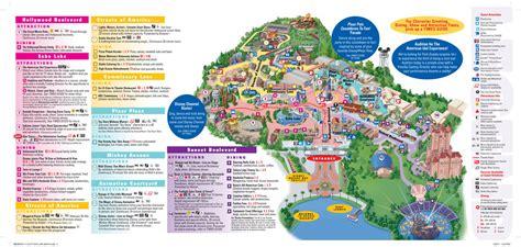 disney maps disney s studios orlando theme park talk