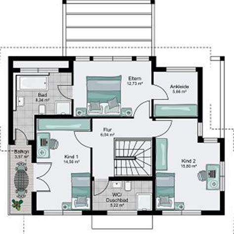 3 schlafzimmer 2 bad grundrisse streif haus berlin bad hat balkon zugang ankleide und