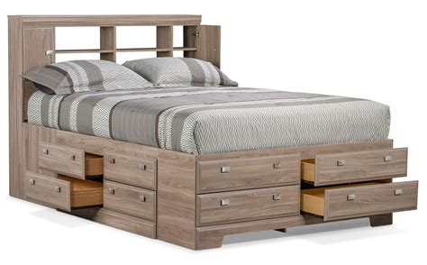 queen bookcase storage bed yorkdale light queen bookcase storage bed united