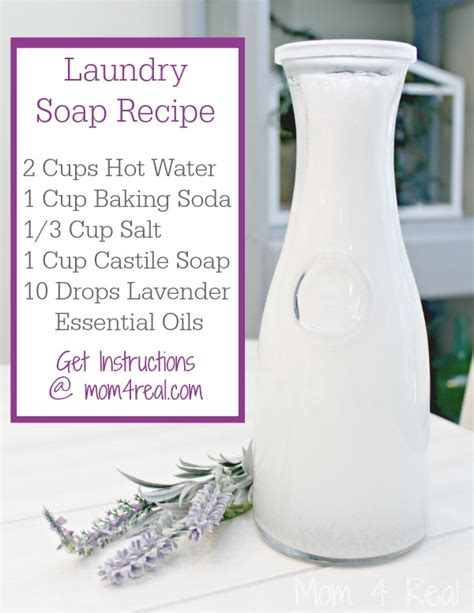 Handmade Lavender Soap Recipe - liquid laundry soap borax free 4 real