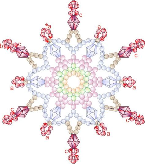snowflake bead pattern free bead patterns and ideas snowflakes falling ornament