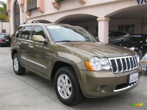 jeep grand cherokee brown 2009 olive green metallic jeep grand cherokee overland 4x4