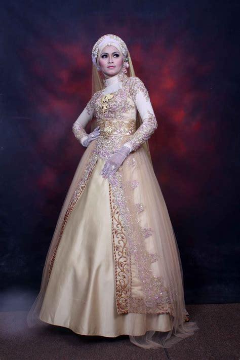 Gaun Muslim Modern gaun pengantin wanita muslimah picture weding collection