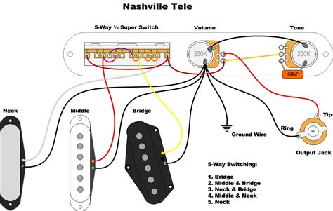 telecaster wiring 5 way switch diagram new wiring