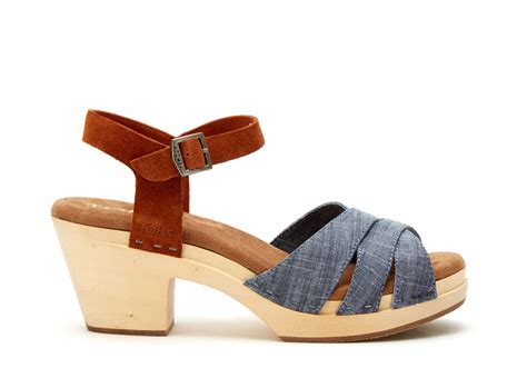 clog sandals for toms chambray brown suede s beatrix clog sandals in