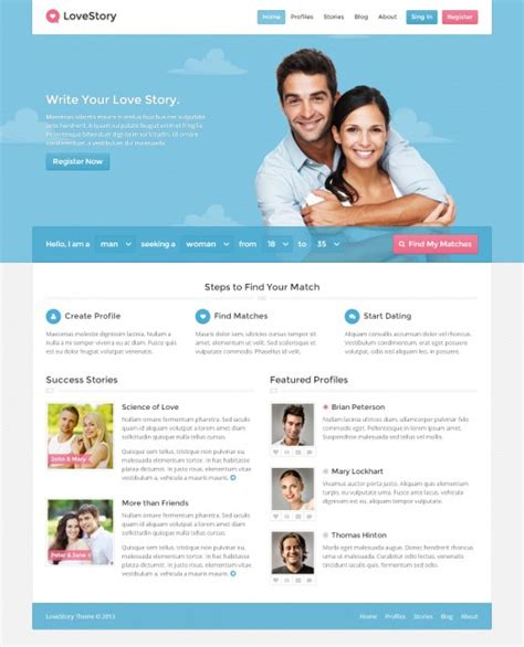 dating site about me template how to build your own dating website business