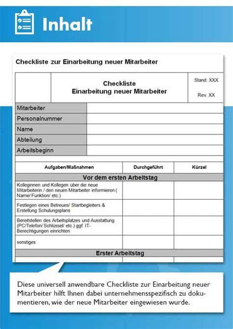 vorlage einarbeitungsplan und checkliste einarbeitung