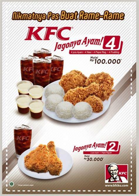 Paket 25nov kfc promo paket jagonya ayam harga mulai rp 30 000