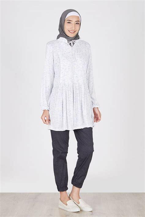 Abstrak Dress sell kanza dress abstrak biru tops hijabenka