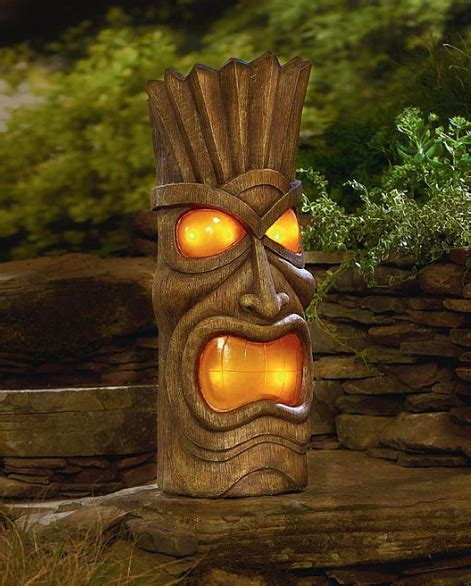 Kari Likelikes Solar Powered Tiki Head Tiki Solar Lights