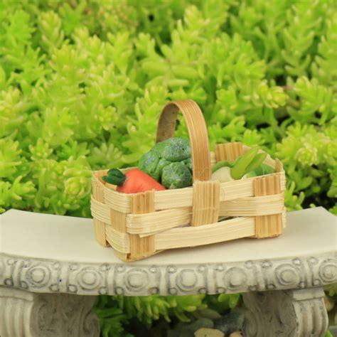 Handmade Garden - basket of handmade vegetables garden accessory by