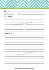 free page templates 4 best images of printable recipe sheets page