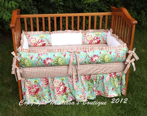 coral and turquoise baby bedding custom coral and aqua turquoise floral baby nursery 3 piece