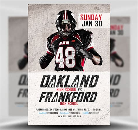 football flyer template high school football flyer template flyerheroes