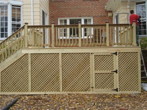 Deck Railing Designs With Lattice - exterior astounding lattice deck decoration with birch