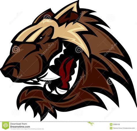 wolverine badger mascot head vector illustration royalty