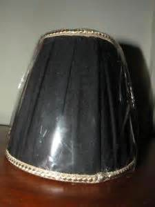 new black and gold box pleated shantung chandelier