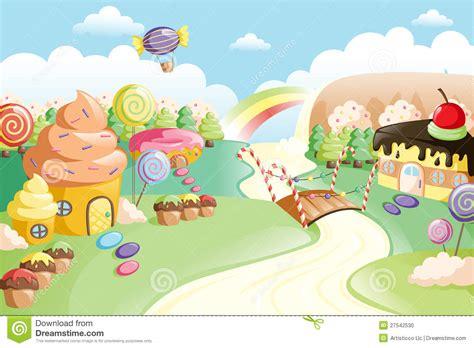 Fantasy Sweet Food Land Stock Photo   Image: 27542530
