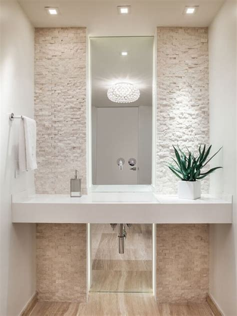 powder bathroom design ideas houzz powder room with solid surface benchtops design