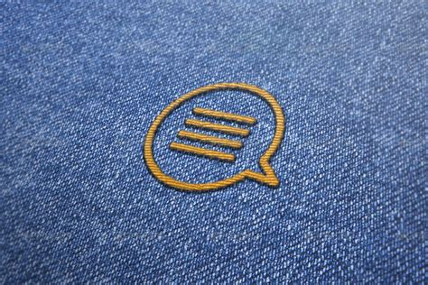 embroidery design mockup embroidered effect logo mockup by themockupfactory