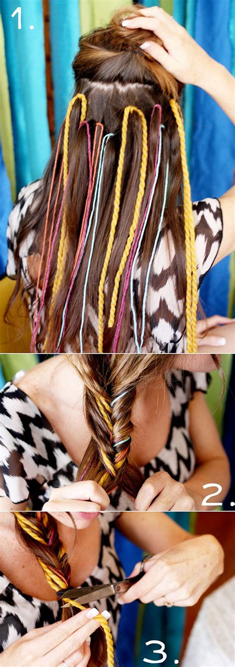 how to tie yarn into hair how to style a fishtail braid a beautiful mess