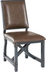 Rustic Industrial Dining Chairs Industrial Side Chair Upholstered Bonded Leather Dining Chairs Rustic Furniture Ebay