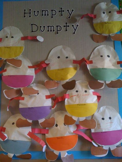 Humpty Dumpty Sat On A Wall Nursery Rhyme Decorations