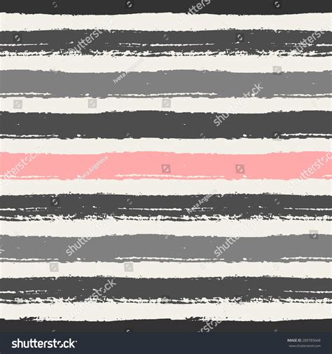 repeating pattern brush hand drawn pastel pink light and dark gray stripes