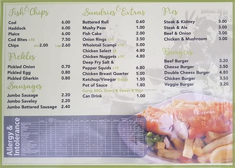 chinese takeaway fish  chips menu merry house chinese