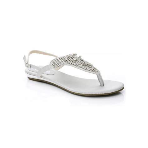 silver dressy flat sandals unze sandals evening flat sandals silver