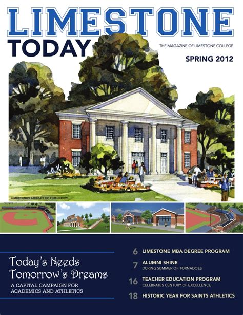 Jr Mba Summer Program by Limestone Today 2012 By Limestone College Issuu