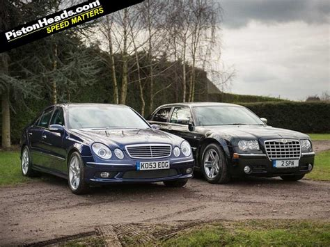 Mercedes And Chrysler by Blood Brothers Mercedes E55 Amg Vs Chrysler 300c