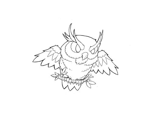owl tattoo outline portfolio new flash outlines