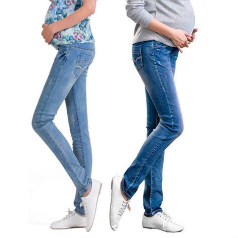 Celana Legging Jegging Denim 78 Stretch Wanita elastic waist maternity for pregnancy clothes