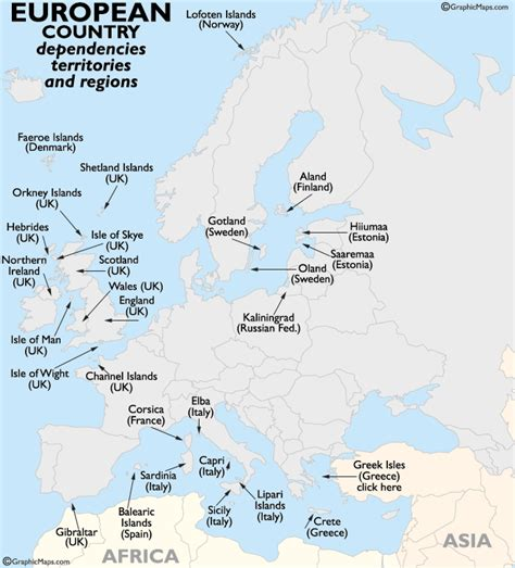 map of european continent europe continent countries dependencies territories and