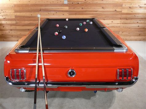 just what your cave needs a ford mustang pool table
