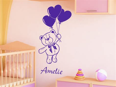 Wandtattoo Kinderzimmer Teddy by Wandtattoo Teddy Mit Wunschname Wandtattoo Teddyb 228 R