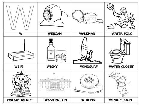 imagenes que inicien con la letra s im 225 genes con w para colorear material para maestros