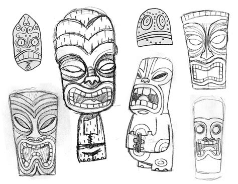 tiki mask coloring pages az coloring pages