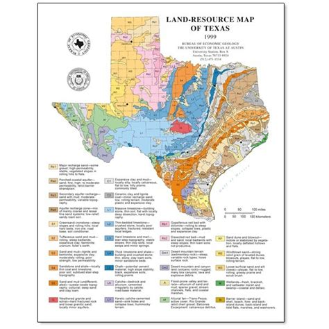 complete map of texas sm0007 land resources of texas publications store