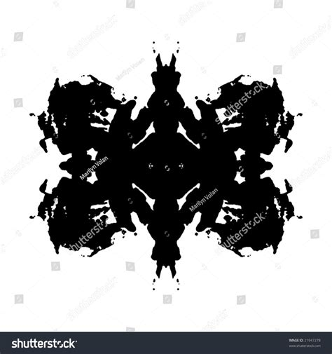 test macchie inchiostro rorschach inkblot test stock illustration 21947278