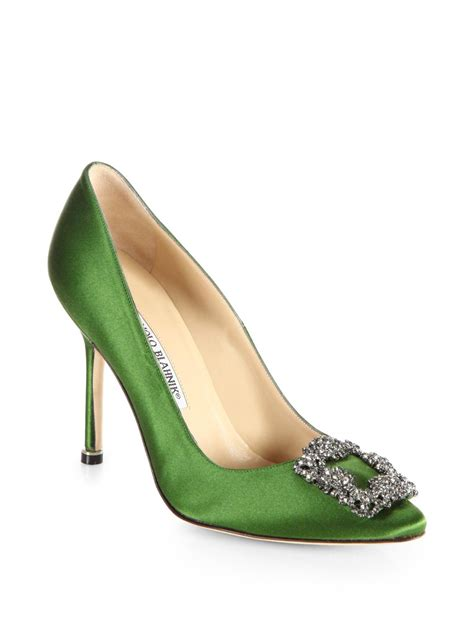 Sepatu M4nolo Blahnik Green Emerald designer wedding rings if ya like im then ya betta