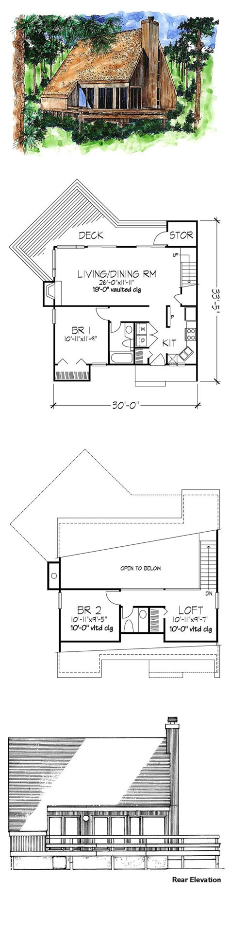 a frame house plan 51028