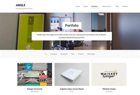 design portfolio header angle best agency portfolio wordpress theme wpzoom