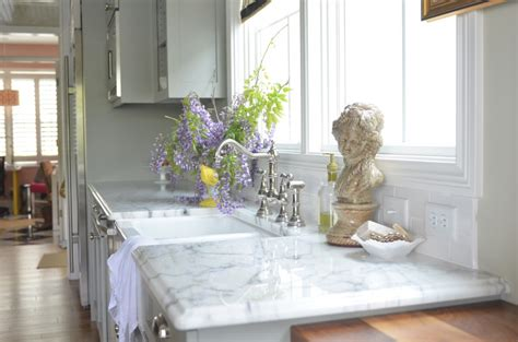 Two Island Kitchens by Living With Marble Countertops A Cautionary Tale Life