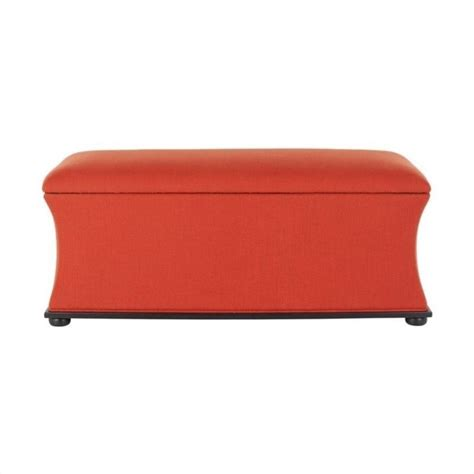 orange storage bench safavieh kate pine wood storage bench in orange hud4071d