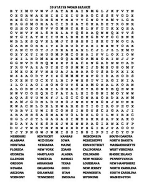 U S Search U S 50 States 2 Fantastic Word Search Puzzles And Answer By Liz Smart