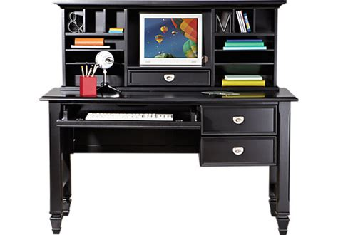 Black Childrens Desk belmar black 2 pc desk and hutch desks black